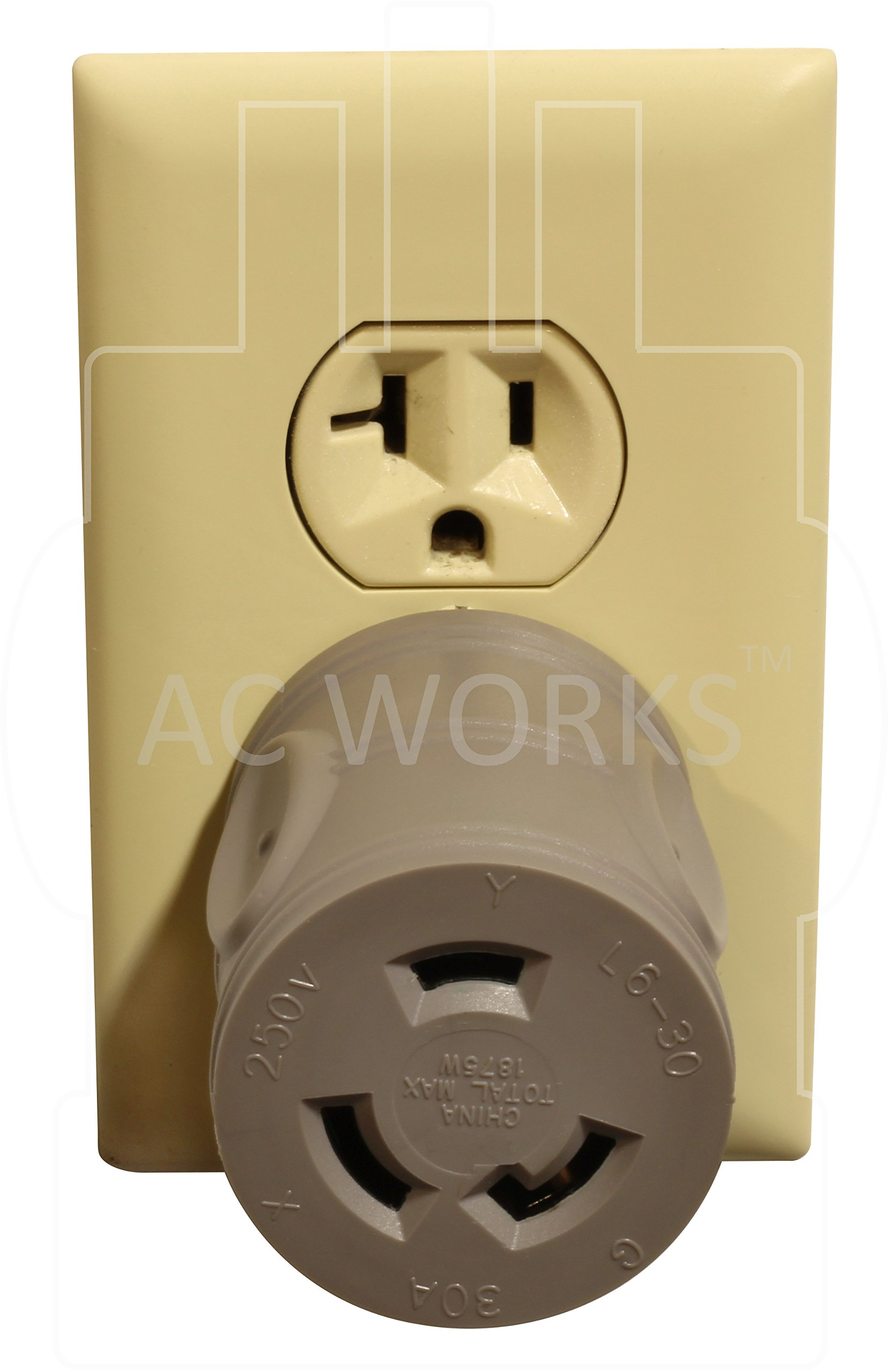 AC WORKS [EV515L630] EVSE Upgrade Electric Vehicle Charging Adapter 15Amp Household Plug to L6-30R Female Connector by AC WORKS (Image #6)
