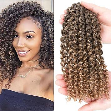 Amazoncom Mali Bob Kinky Curly Crochet Hair Marlybob Crochet