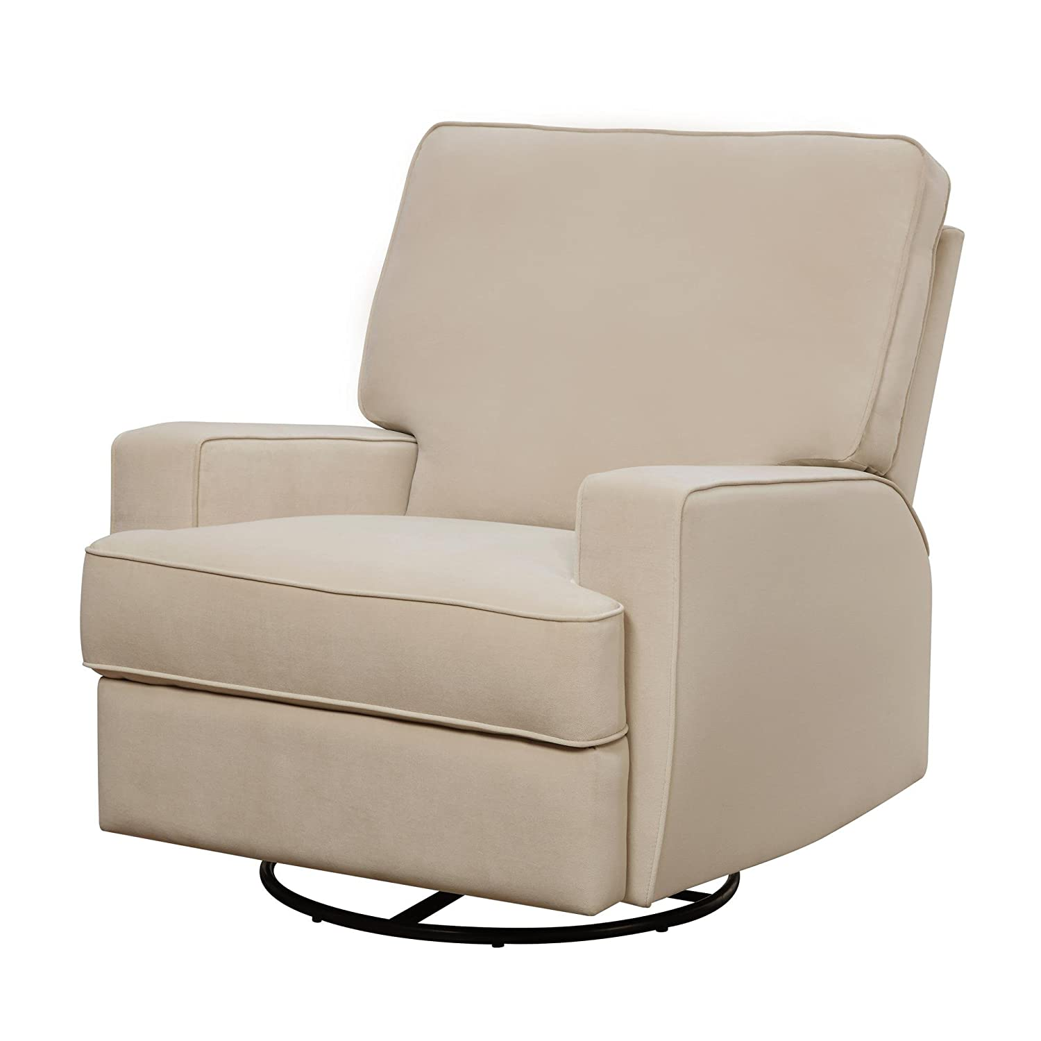 Glider chair for nursery - Baby Relax Rylan Swivel Gliding Recliner Beige