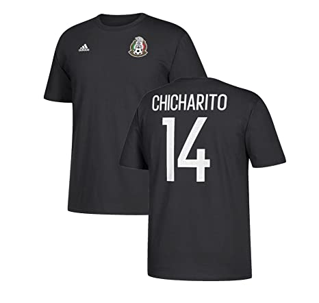 premium selection 22a3b 82415 adidas Chicharito Hernandez Mexico World Cup Men's Black Name and Number  T-shirt