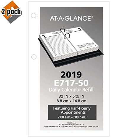 Amazon.com: AT-A-GLANCE 2019 Recambio para calendario de ...
