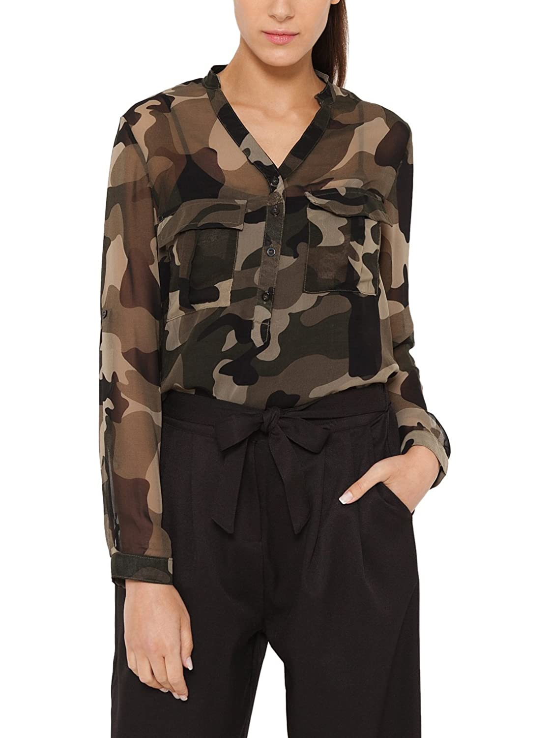 Tantra Damen Umstands Tunika Camouflage Blouse withPockets