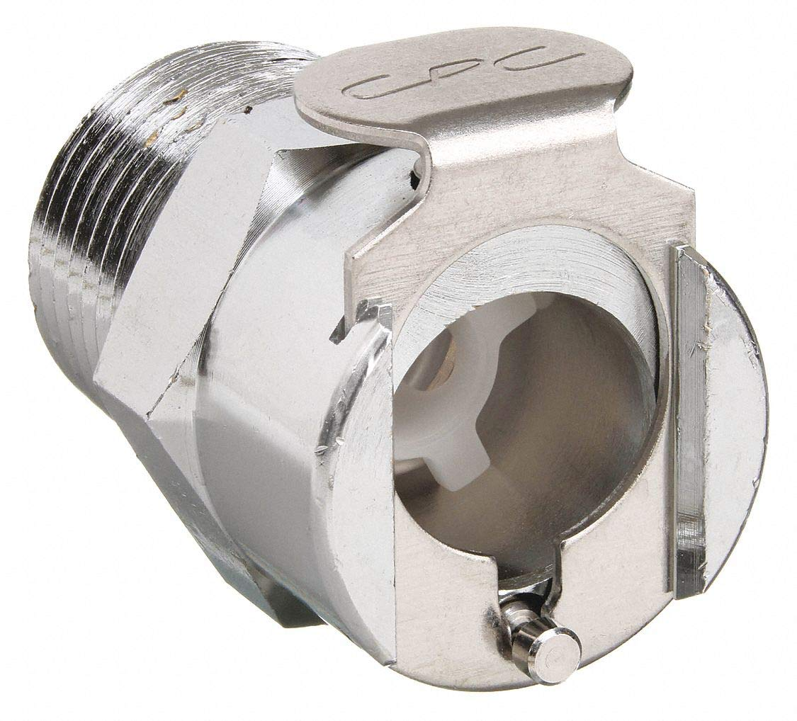 M LCD10004 Metal Quick-Disconnect Coupling Body valved Thread Colder 1//4 Flow Size CPC 1//4 NPT