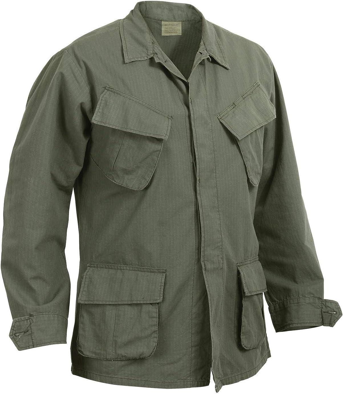 Rothco Vintage Vietnam Fatigue Shirt Rip-Stop: Clothing