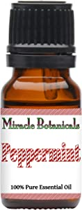 Miracle Botanicals USA Peppermint Essential Oil - 100% Pure Mentha Piperita - 10ml or 30ml Sizes - Therapeutic Grade - 10ml