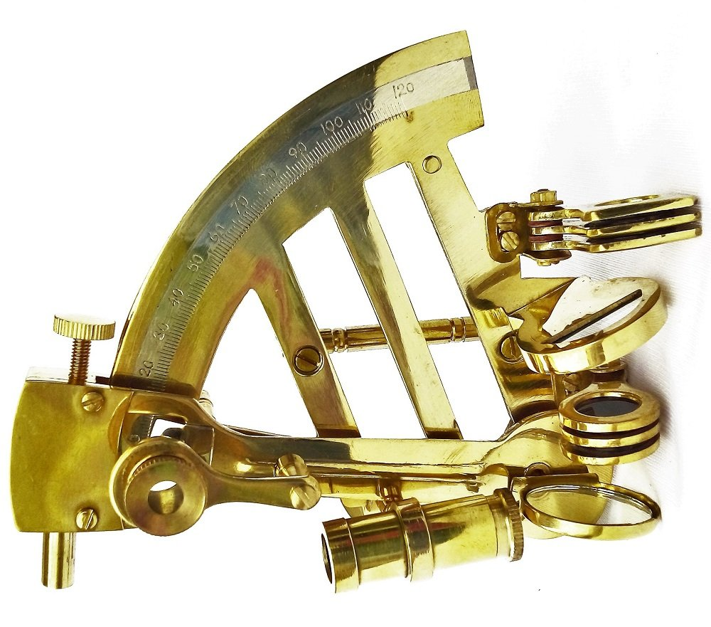 Royal Scouts Brass Antique Sextant Navigation Nautical Decoration Brand New - 4 Inch- For Home Decor  Showpiece  Gifts  Voyage  Directions  Antique