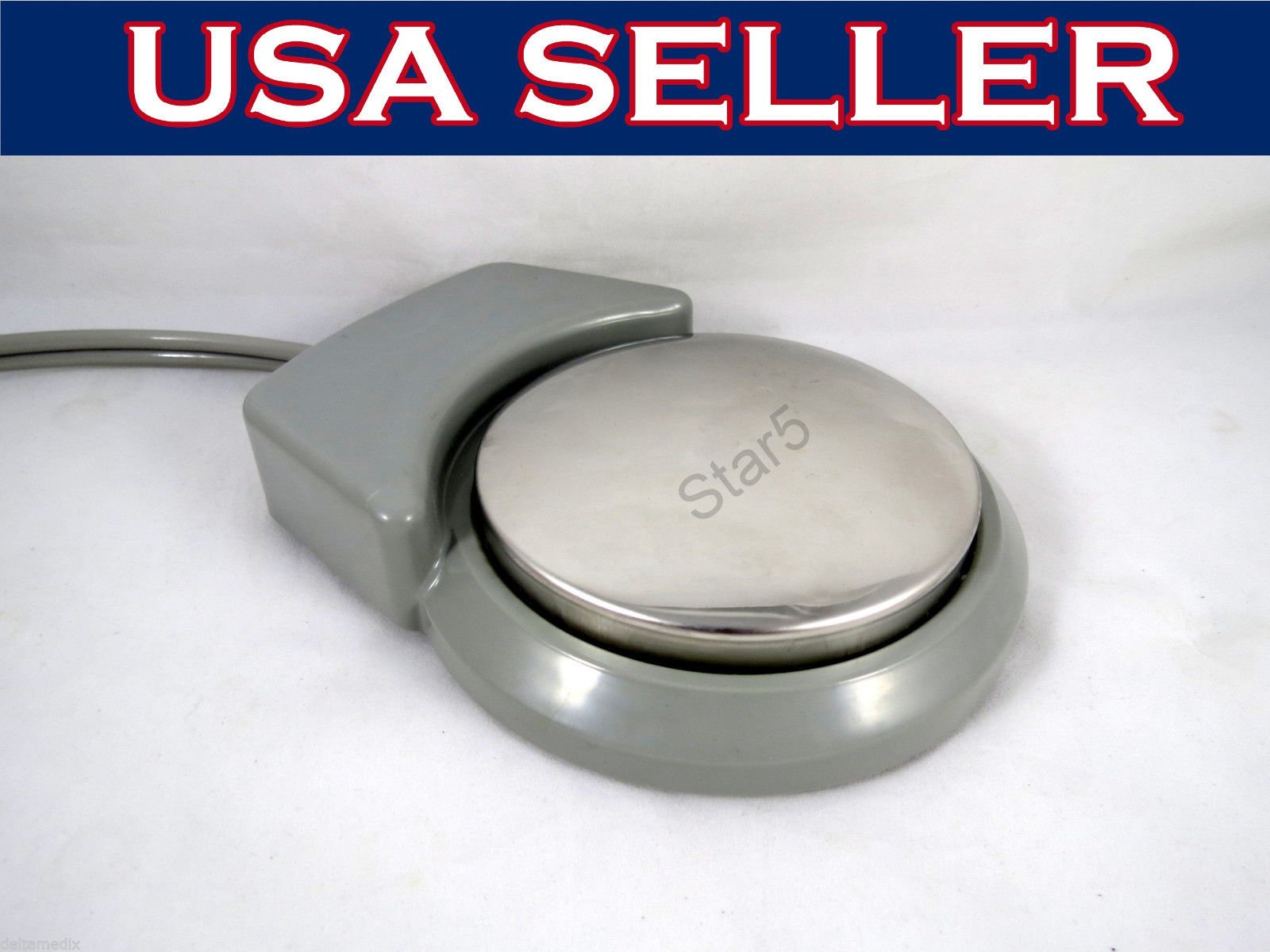 Dental 2 Hole Foot Control Pneumatic Round Pedal And Tubing B2 Standard Unit STAR5