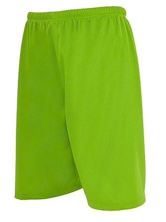 Urban Classics Bball Mesh Shorts, Short de Sport Homme, Vert (Limegreen  00146) a7be9b358d4b