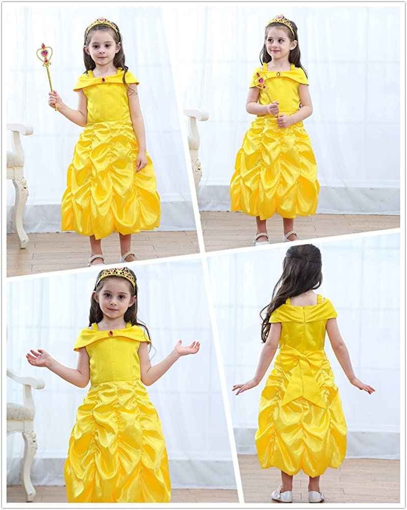 Girl Belle Princess Costume Fancy Dress Up Party Holiday Child Age 18-24m FC017