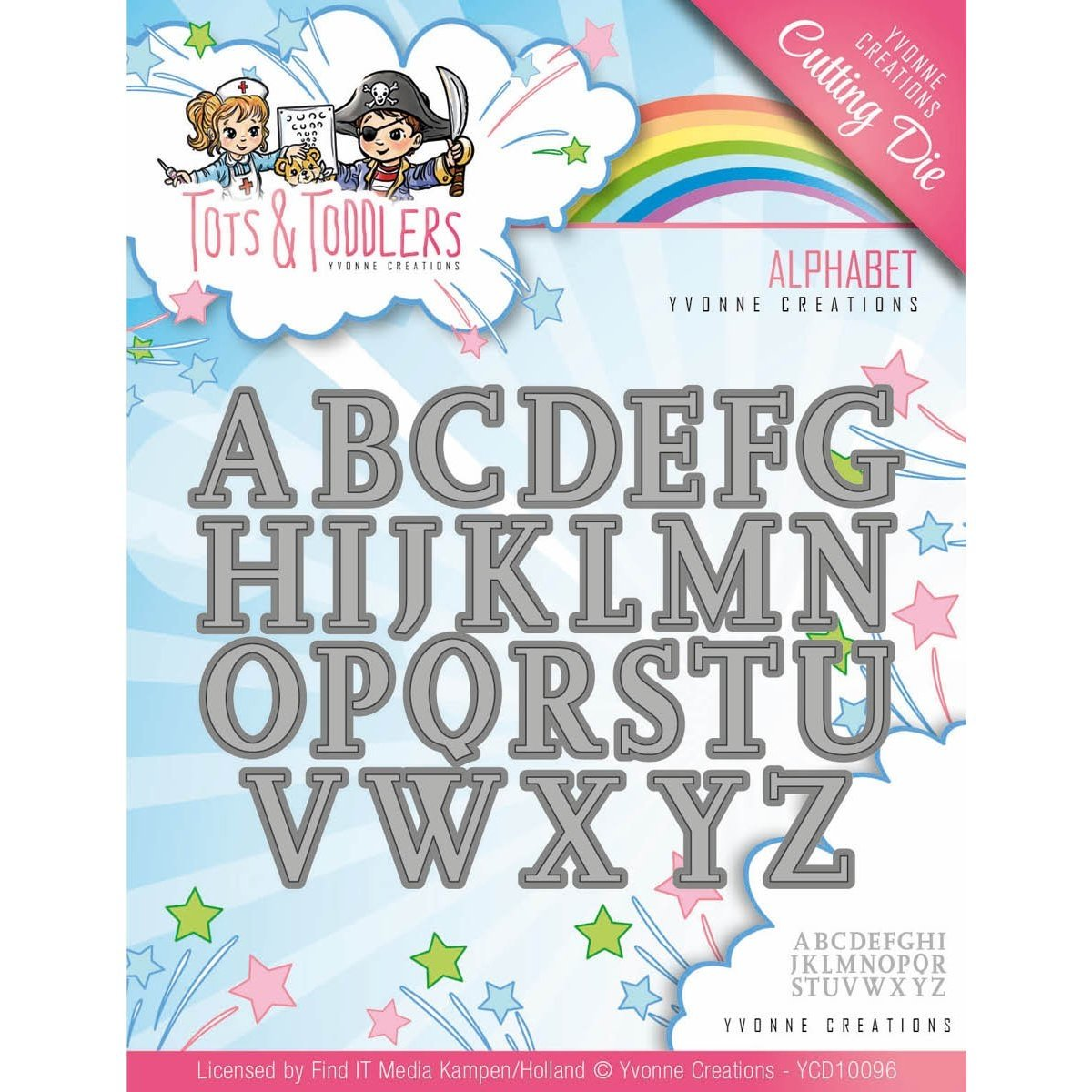Find It Trading Yvonne Creations Tots & Toddlers Die-Alphabet YCD10096