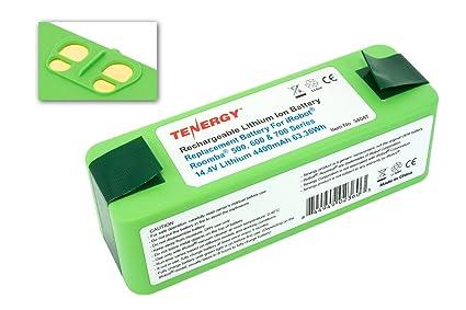 Tenergy batería de repuesto para IROBOT ROOMBA 500, 600, 700, 800 Series –