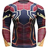 Cody Lundin, maglietta a compressione aderente da fitness a maniche lunghe con stampa 3D a forma di ragno