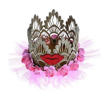 MagiDeal Corona de Princesa con Banda Elástica Forma de Sombrero de Navidad/Labios Decoración de Pelo para Fiesta de Cumpleaños de Niñas: Amazon.es: Ropa y ...