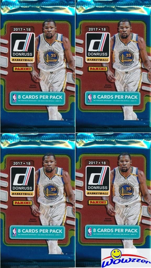 B077H5Z5DG 2017/18 Panini Donruss NBA Basketball Collection of FOUR(4) Factory Sealed Packs with 32 Cards! Loaded with ROOKIES & INSERTS! Look for RC's & Autographs of Jayson Tatum, Lonzo Ball & More! WOWZZER! 71XovrzN4OL