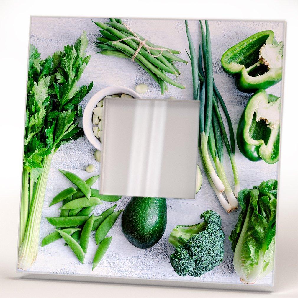 Verdes Verduras Aguacate Espejo Pared Marco Enmarcado Impreso Comida ...