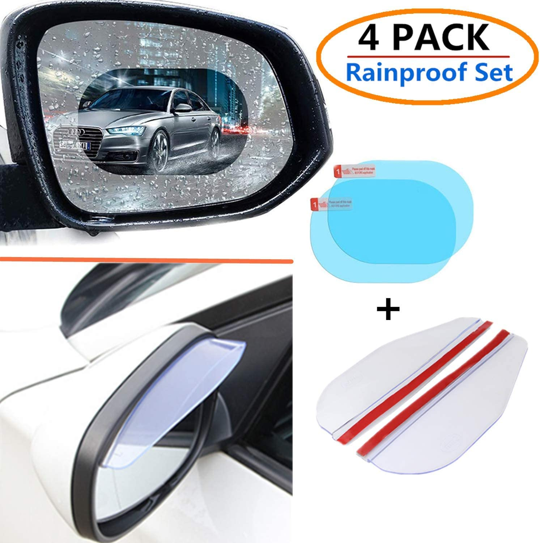 2PACK Mirror Rainfroof Blade Rain Eye Brow,Rain Protection Cover Eyebrow Rain Guard for Car Auto Rear View Mirror 2PACK Car Rear View Mirror Film Waterproof Rainproof