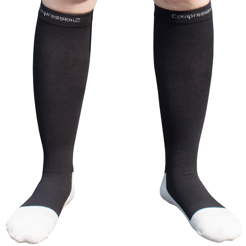 f4dd1a71bd Flight Socks for Men and Women - Best Compression Socks for Running Skiing  Travel Athletics -