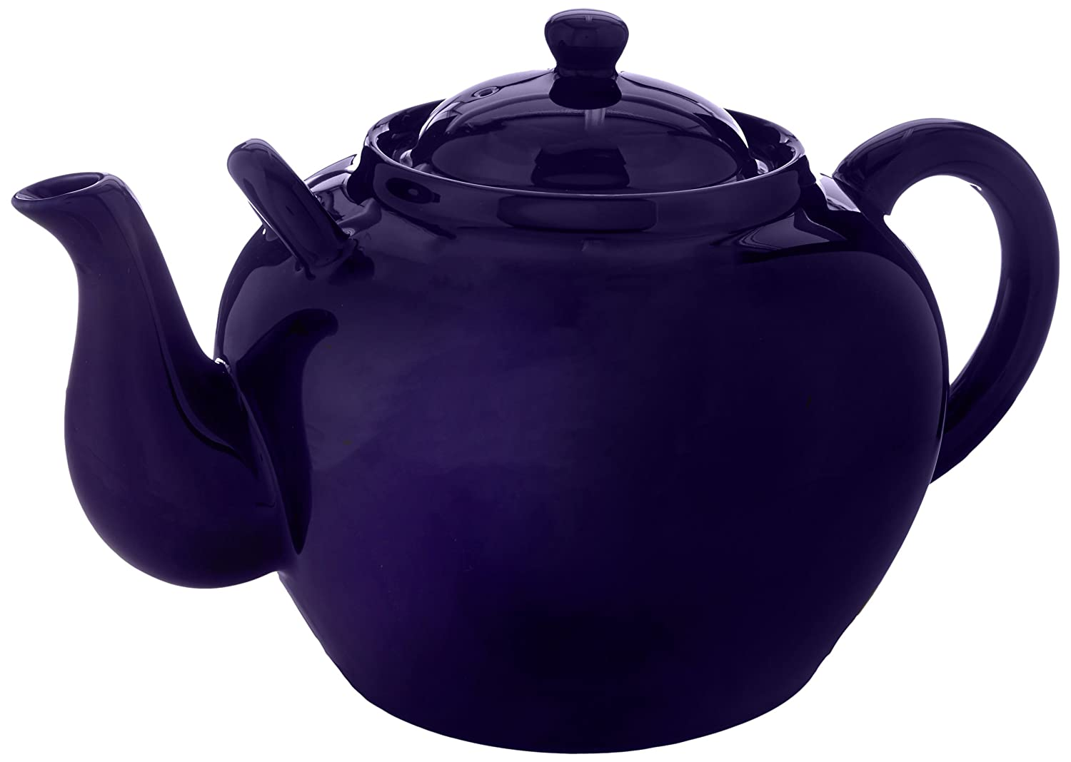 Harold Import Co. NT-653C HIC Teapot, Cobalt, Ceramic Stoneware, 12-Cup, 75-Ounce Capacity