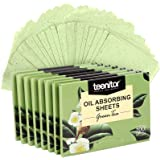 800 Counts Natural Green Tea Oil Control Film, Teenitor Oil Absorbing Sheets for Oily Skin Care, Blotting Paper to Remove Exc