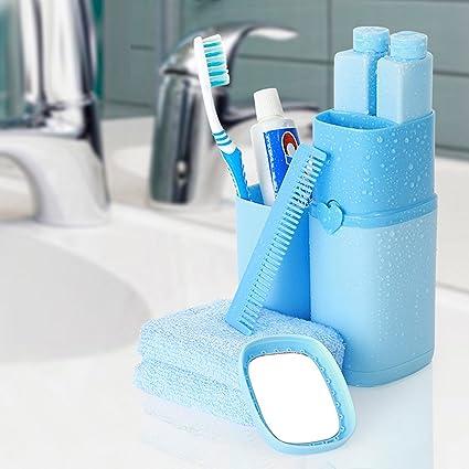 asbyfr portátil cepillo de dientes pasta de dientes organizador viaje Wash Suministros Caja de cepillo de