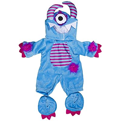"One Eyed Monster Costume Teddy Bear Clothes Fits Most 14""-18"" Build-A-Bear and Make Your Own Stuffed Animals: Toys & Games"