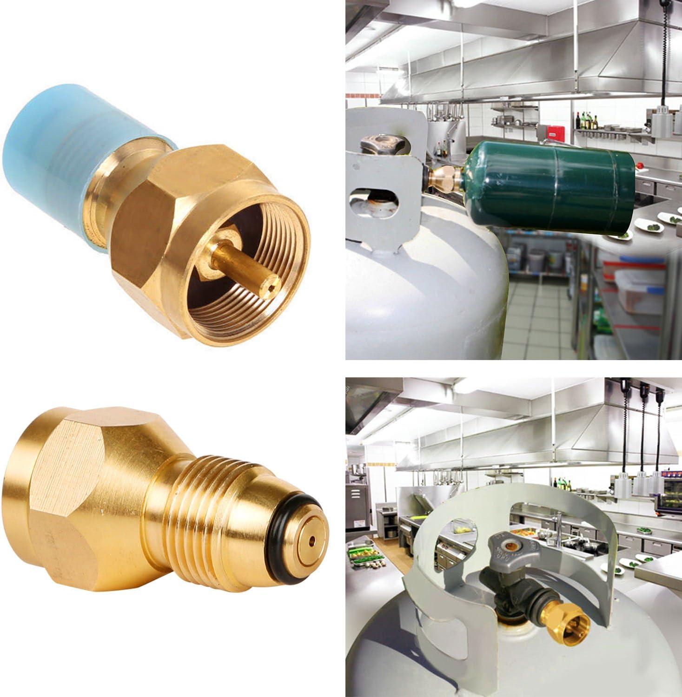 Propane Refill Adapter Lp Gas 1 Lb Cylinder Tank Coupler Heater 100/% Brass