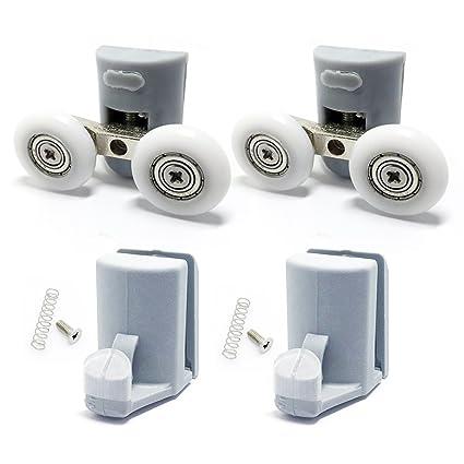 8 x para mampara de ducha ganchos guías/rodillos/ruedas/corredores diámetro 23