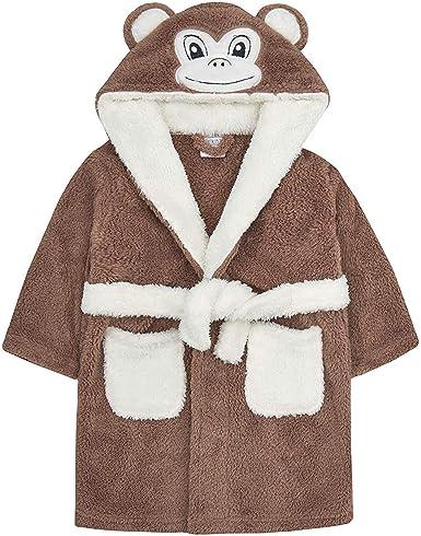 Bambino novit/à vestaglia Baby Mouse Panda Duck Face con cappuccio dettaglio 6-12 12-18 18-24