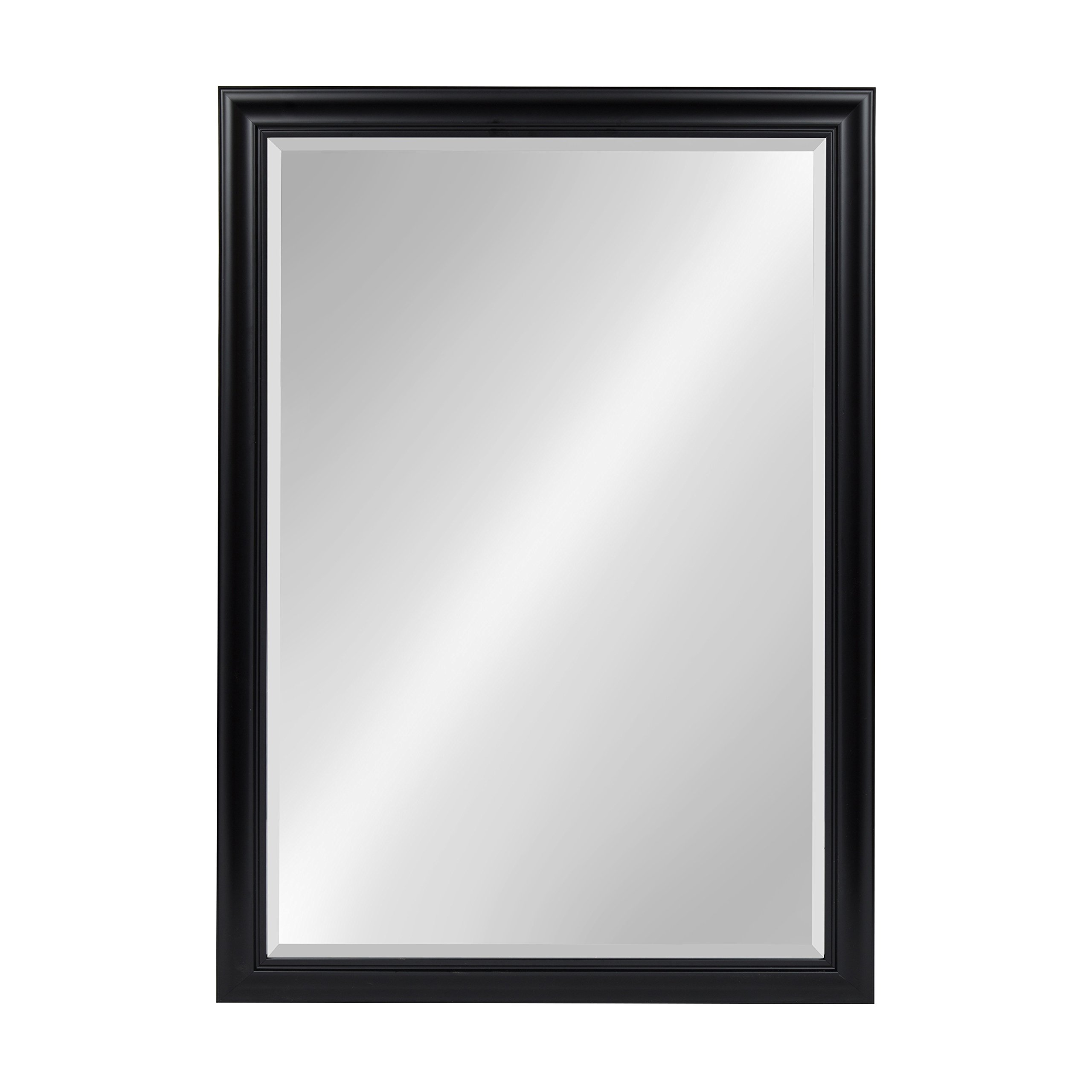 Kate and Laurel Dalat Framed Beveled Wall Mirror, 28x40, Black