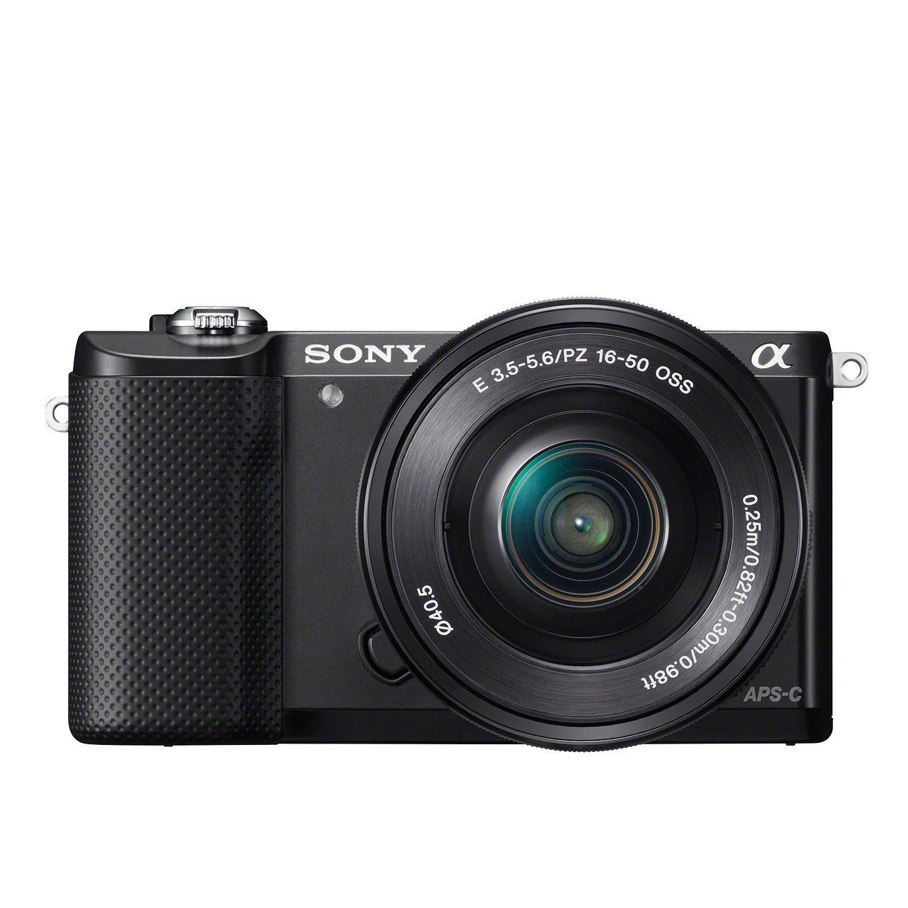 Sony Alpha 5000L Fotocamera Digitale Compatta con Obiettivo Intercambiabile, Sensore APS-C, CMOS Exmor HD, 20,1 MP, Obiettivo da 16-50 mm Incluso, Nero product image
