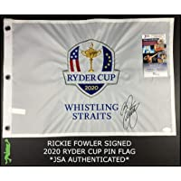 $190 » Rickie Fowler Autographed 2020 Ryder Cup Whistling Straits Golf Flag Coa - JSA Certified - Autographed Golf Pin Flags