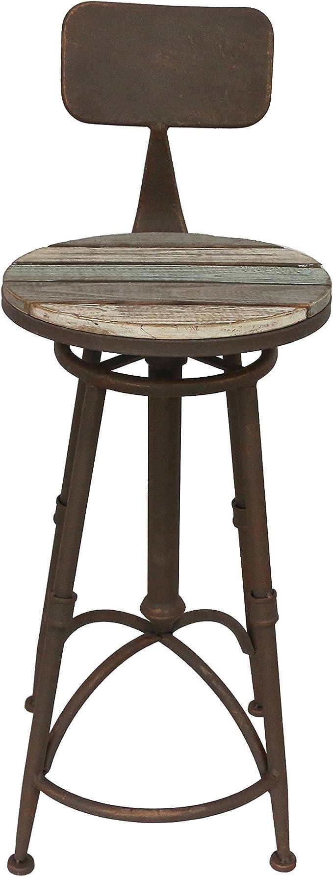 blu in legno altezza seduta: meno 70 cm fino al massimo 90 cm x larghezza 43 cm x profondit/à 36 cm. totale 98 cm Sgabello da bar in ardesia e rose