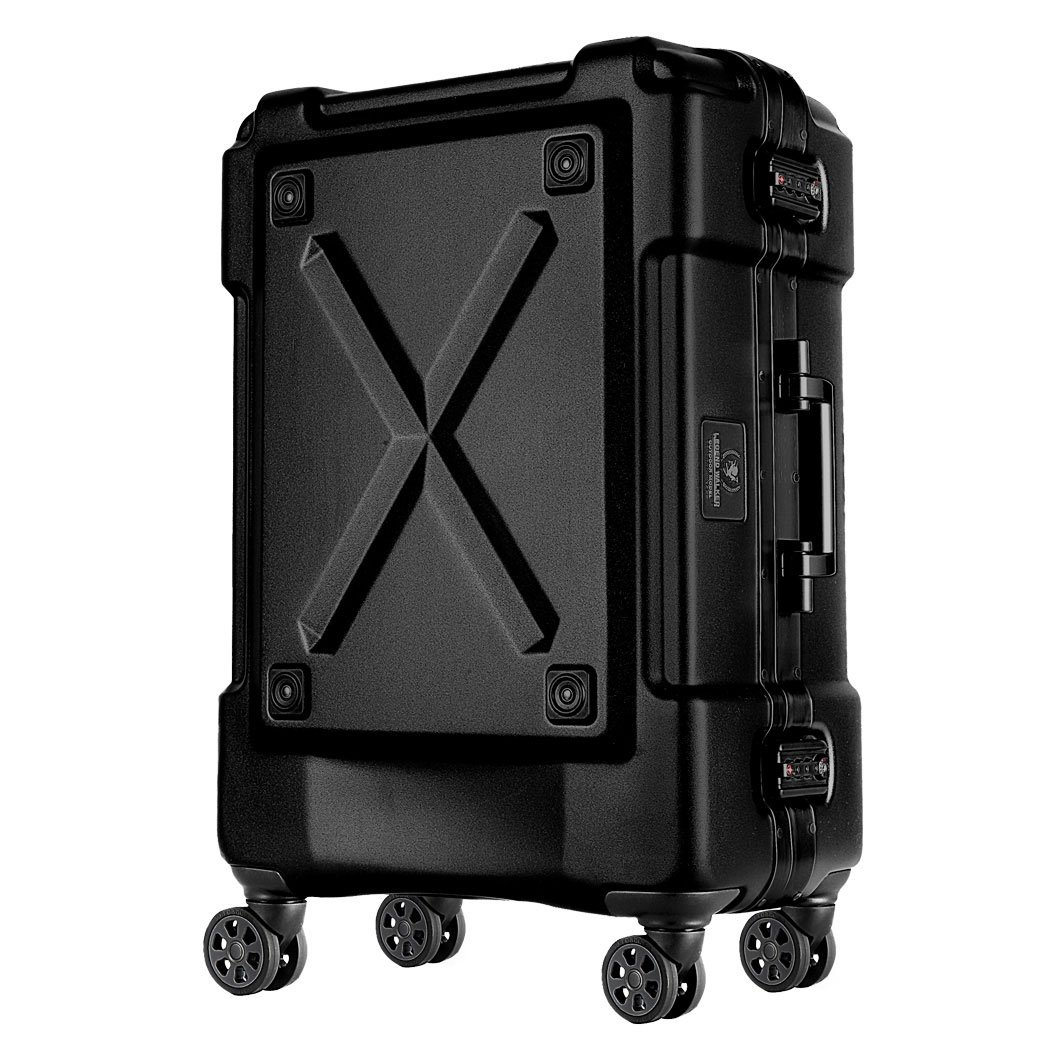 highstyle キャリーバッグ 旅行 TSAロック 軽量アルミフレーム PC100% 4輪ダブルホイール 折りたたみ傘&ペットボトル背面収納機能つき トラベルスーツケース 67リットル B06XZ23TVD マットブラック