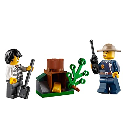 LEGO City Mountain Police MiniFigure Combo - Police Chief and Bandit (with Tree Stump Gold Hideout) 60171: Toys & Games