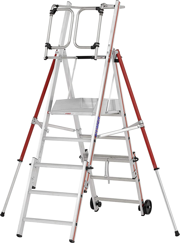 HYMER 848405 - Escalera de tijera: Amazon.es: Bricolaje y herramientas