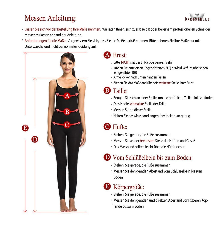 Dresstells Damen Asymmetrische Ballkleid Brautjungfernkleider ...