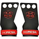 PICSIL RX Carbon Grips 3H - Hand Grips and Gymnastics Grips for Cross Training, muscleups, pullups, Weight Lifting, Chin ups, Training, Exercise, Kettlebell