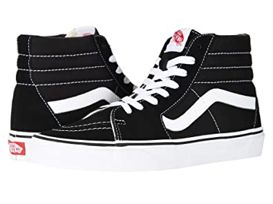 Vans Sk8-Hi Unisex Casual High-Top Skate Shoes Black White 6267a20a2