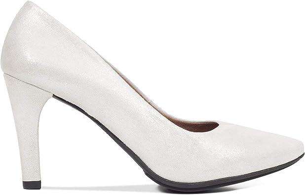 Glam – Zapato de Vestir tacón Aguja Plata: Amazon.es: Zapatos y complementos