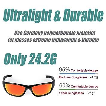 1ac2f7d7a93 Duduma Tr8116 Polarized Sports Sunglasses for Baseball Cycling Fishing Golf  Superlight Frame (Black frame with red mirror lens)  Amazon.ca  Sports   ...