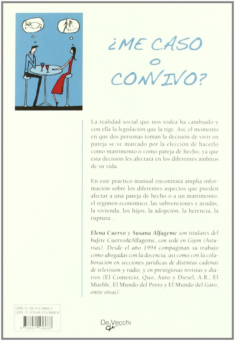 ?Me caso o convivo?: ELENA CUERVO : 9788431536688: Amazon.com: Books