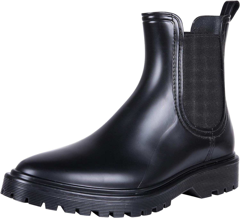 Women's Ankle Rain Boots Waterproof Chelsea Boots