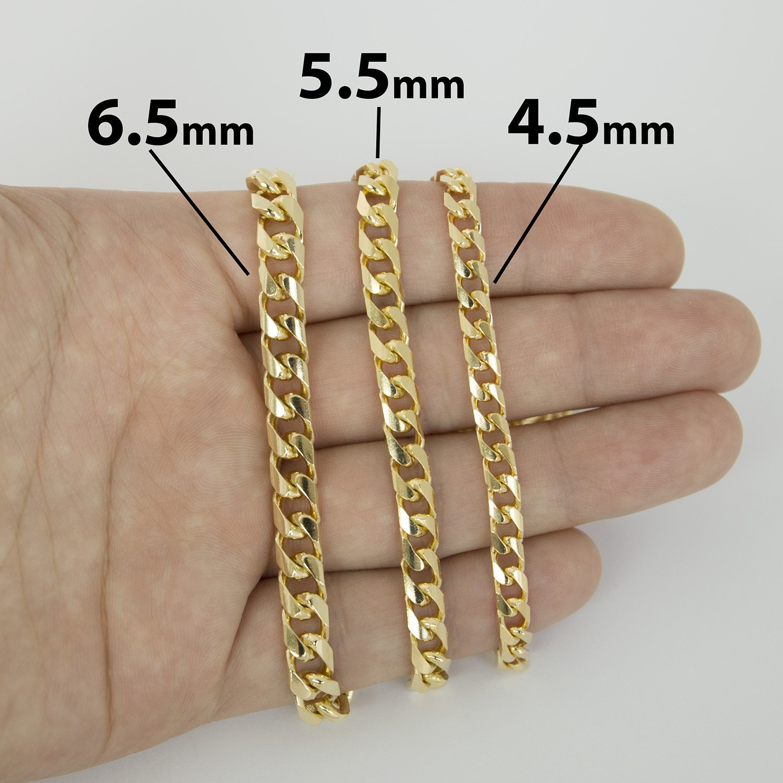 d83de9327ee93 Men's 14k Yellow Gold Classic Miami Cuban Link Chain Necklace or Bracelet