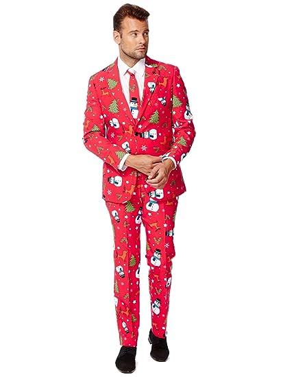 pretty nice 8f648 67197 Opposuits OSUI-0020-EU46 - Christmaster - Weihnachts Anzug, Party Kostüm,  Größe 46, mehrfarbig