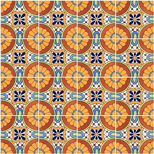 40 mexican talavera tiles ceramic 6x6