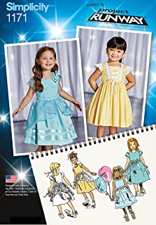 product image for Simplicity Patterns US1171AA Toddlers' and Child's Special Occasion Dresses, AA (1/2-1-2-3)
