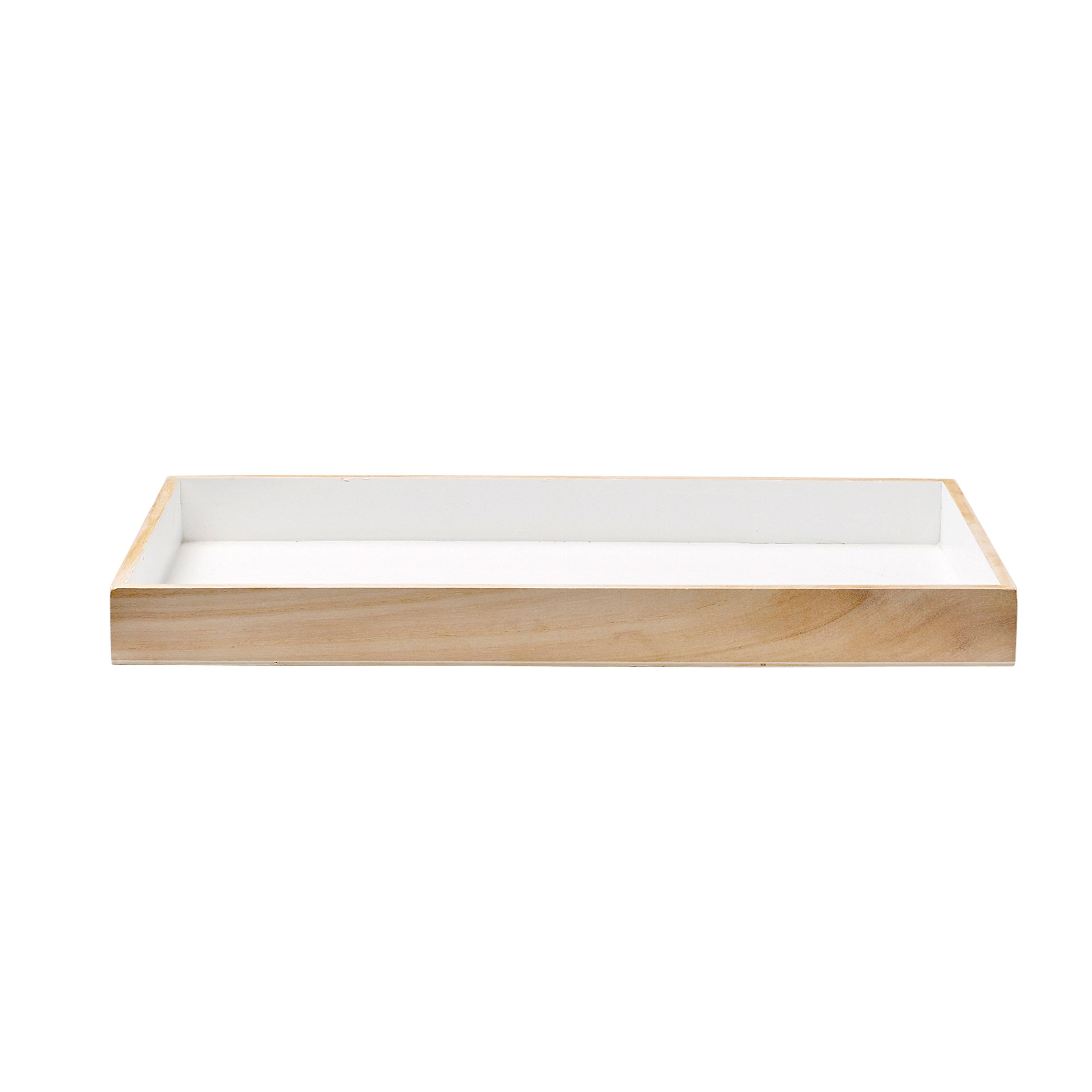 Bloomingville A509053 Wood Tray with White Bottom, Multicolor