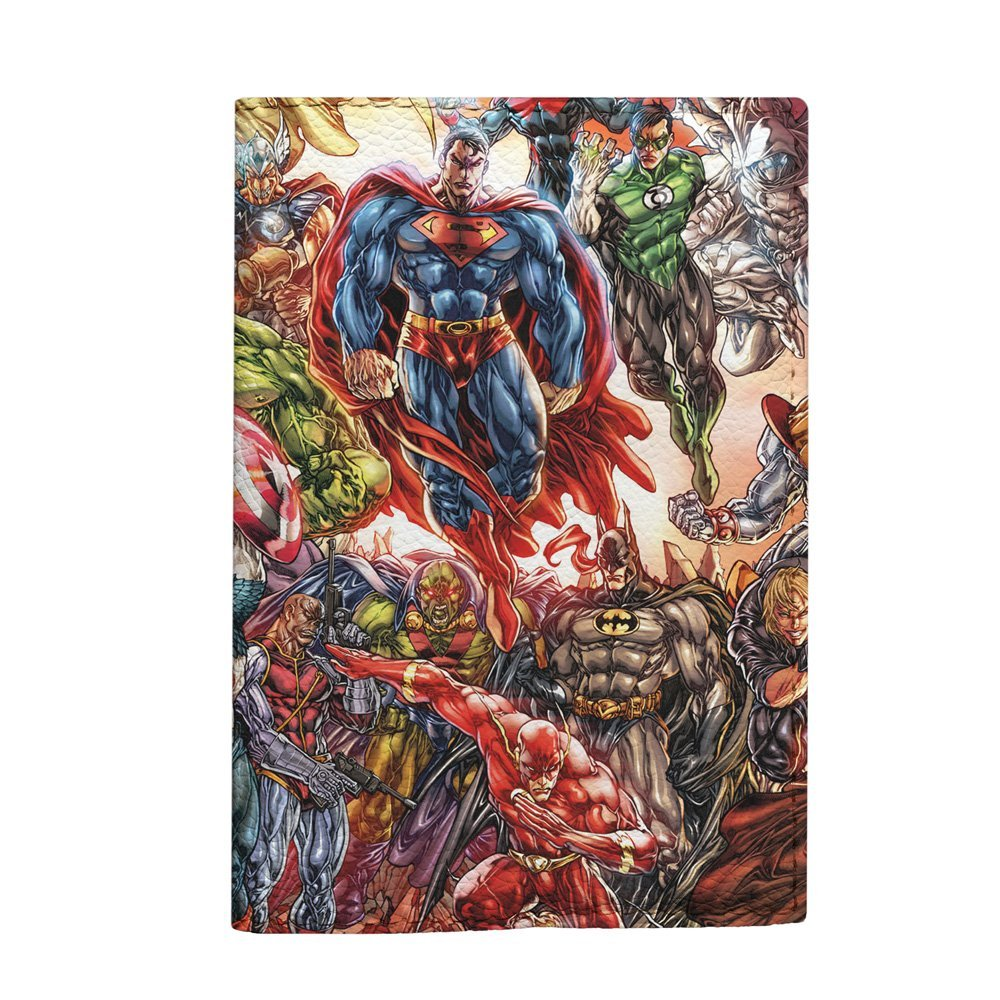 Super Heroes DC comics passport holder cover for kids handmade travel case