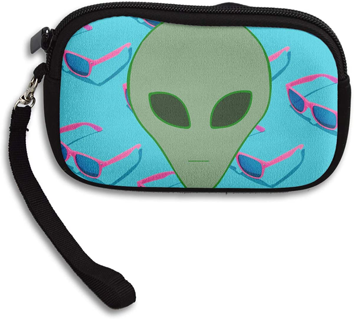 Green Aliens Deluxe Printing Small Purse Portable Receiving Bag
