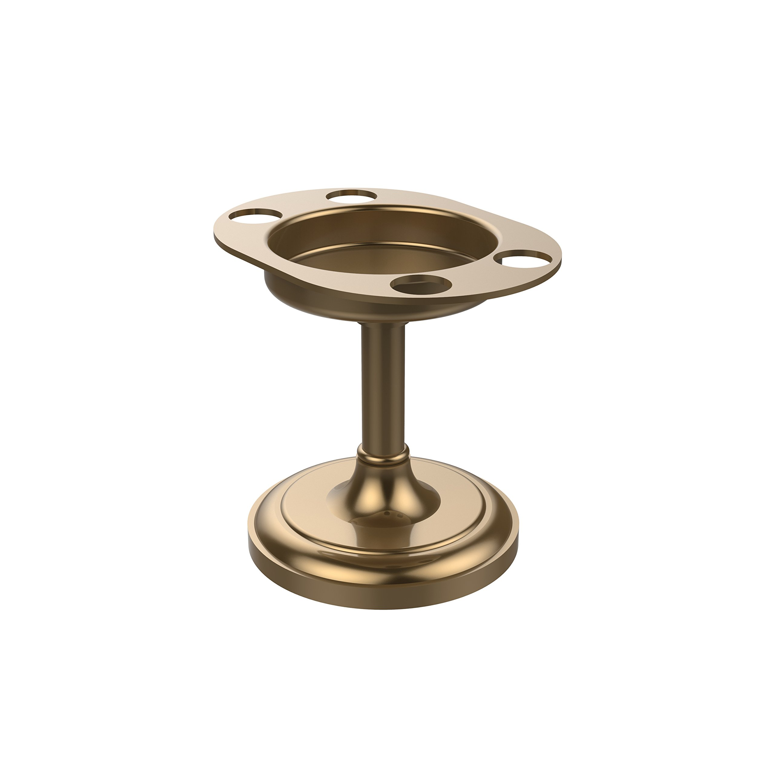 Allied Brass S-55-BBR Vanity Top Tumbler and Toothbrush Holder, Brushed Bronze